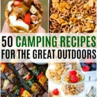 vertical collage of camping recipes