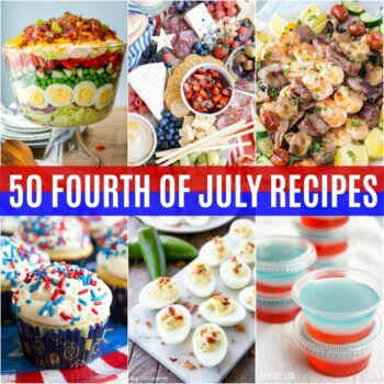 The 4th of July is a fun time to get together, celebrate the founding of our country and chow down with friends! These 50 Fourth of July Recipes are out of this world good!
