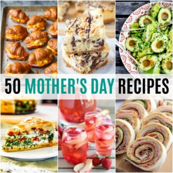 Whether it's being prepared by the kids or Dad, you'll find the perfect dish! Take the mystery out of making Mom smile these 50 Mother's Day Recipes!