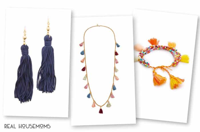 Tassels of all sorts are super trendy this season and I'm sharing 9 WAYS TO WEAR MORE TASSELS in your everyday life!