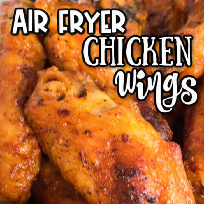square image for Air fryer chicken wings