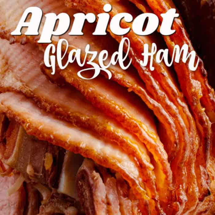 square image Apricot Glazed Ham with Text