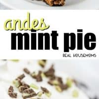 Full of creamy chocolate and fresh peppermint flavors this Andes Mint Pie is a fun flavorful and EASY dessert that you must make!