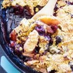 Apple Cherry Cobbler a delicious combination for the fall of apples and cherries. This easy cobbler recipe will have you forgetting all about pumpkin, as who needs that when you have apples and cherries?