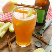 If you can't get enough apple cider, why not make an Apple Cider Shandy? This amazing hard cider cocktail has just 3 ingredients and is a fantastic way to enjoy apple cider in one glorious fall drink!