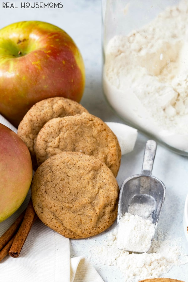 Apple Cider Snickerdoodles are the sweet cinnamon sugar cookie that you love with apple cider flavor to really step up the Fall flavor!