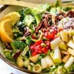 Apple Pecan Brussels Sprouts Salad
