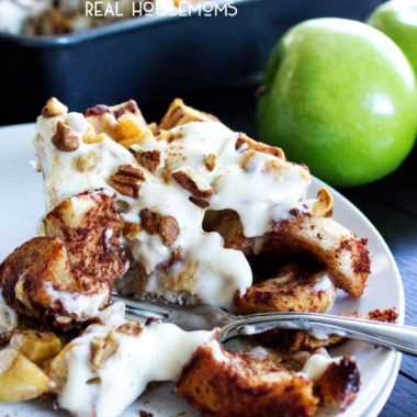 Apple Pie Cinnamon Roll Bake