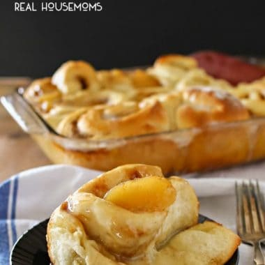 APPLE PIE CINNAMON ROLLS are everything you love about cinnamon rolls & apple pie all rolled into one delicious bite!