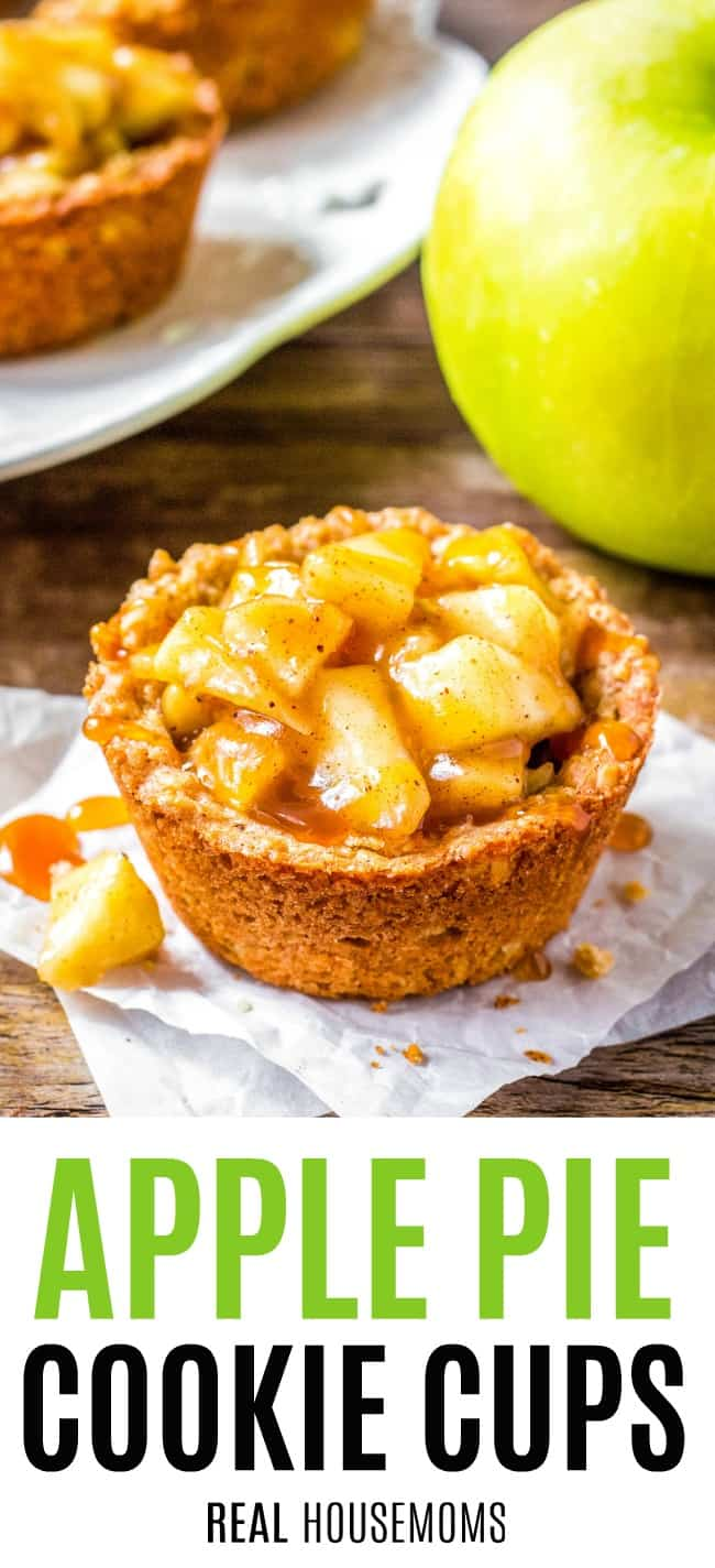 apple pie cookie cup on a napkin