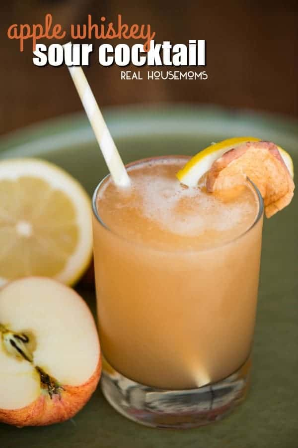 If you love easy cocktails, then you will surely love this blended Apple Whiskey Sour made with apple juice, bourbon whiskey, lemon, and simple syrup!