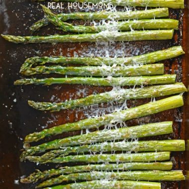 Asiago Asparagus is a fresh and easy side dish perfect for any meal. Prepared in just 15 minutes with 5 ingredients!