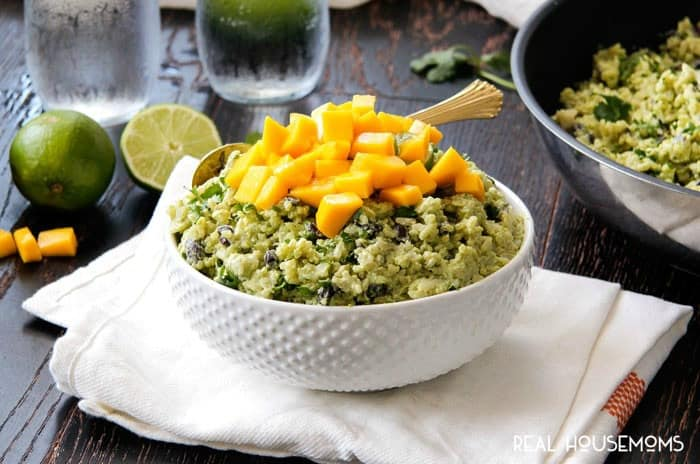 Creamy AVOCADO MANGO RICE is the most addictingly delicious Mexican side that makes every meal better or just add some chicken for a complete dinner!