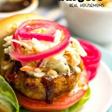 These BBQ Chicken Burgers require just a few basic ingredients and come out super juicy and flavorful!
