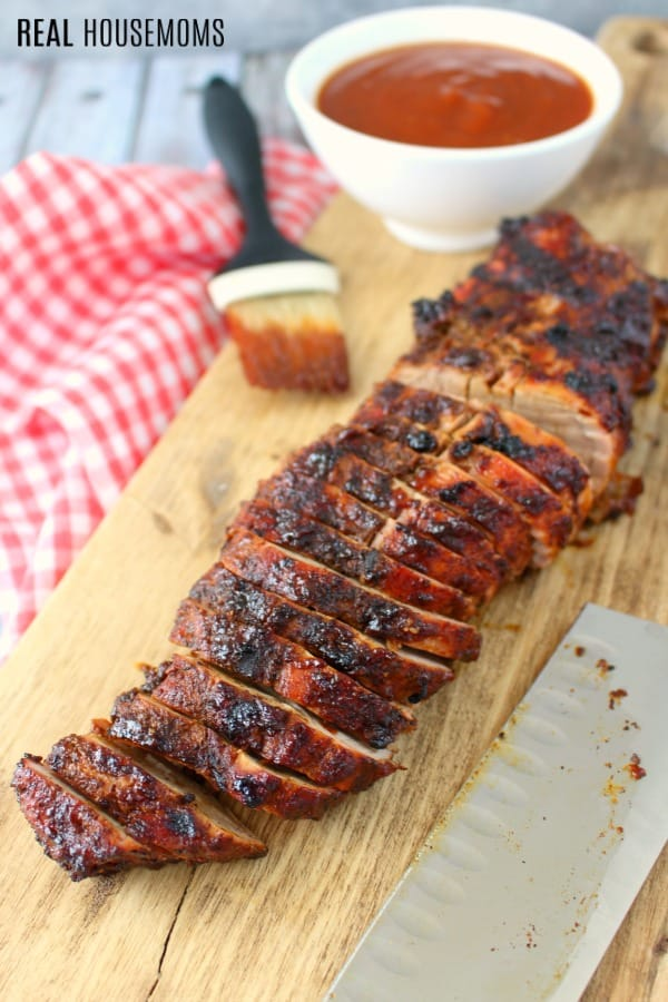 Sliced bbq pork loin for sliders