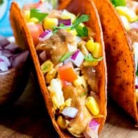 These BBQ Ranch Chicken Tacos are a quick and easy dinner recipe for busy weeknights! Barbecue meets Mexican in this family favorite meal!