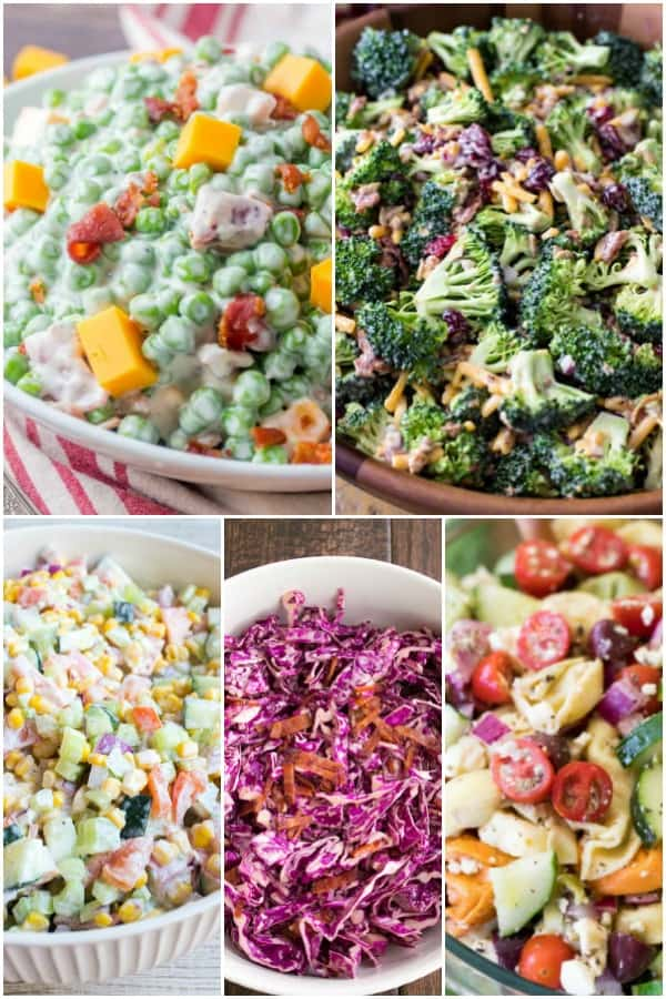 coleslaw and salads for a cookout