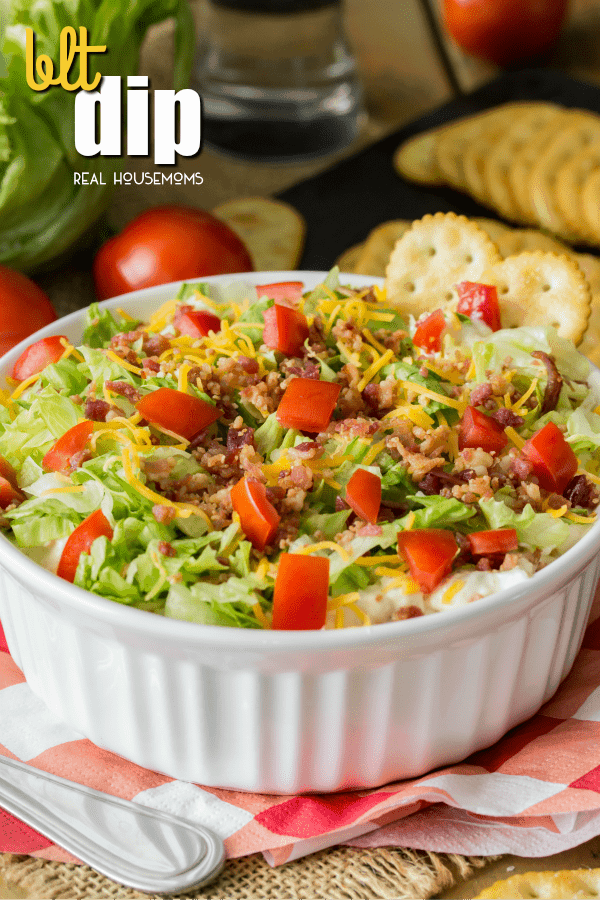 Easy BLT Dip is a simple recipe using everyday ingredients in your kitchen that's sure to be a hit at your next party or potluck!