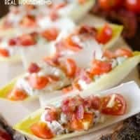 BLT ENDIVE BITES are a unique twist on BLT for an easy 10-minute appetizer that will impress your party guests!