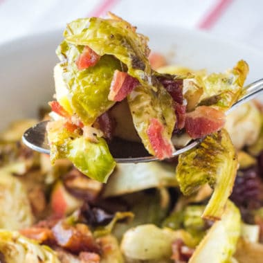 Veggie lovers will swoon for this Brussel Sprouts with Bacon, Dates, and Apples recipe! So good even the most brussels sprout weary will dig in!
