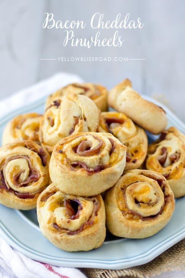 Bacon Cheddar Pinwheels - Lil' Luna