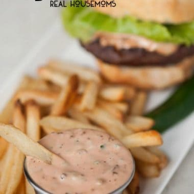 Elevate your french fries, onion rings, sandwiches, and burgers to a whole new level with this quick and easy Bacon Jalapeno Fry Sauce!