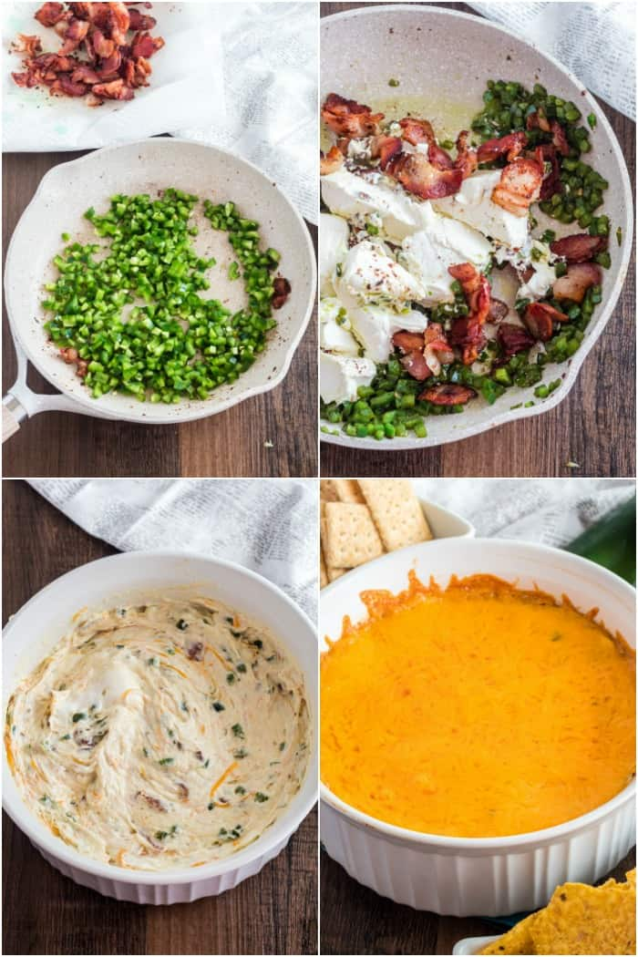steps to make bacon jalapeno popper dip