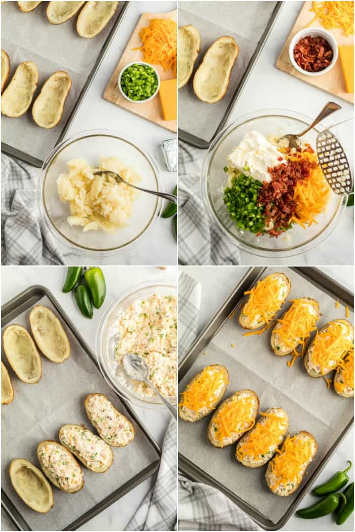 stesps to make twice baked potatoes