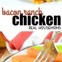 Bacon Ranch Chicken is an easy weeknight dinner recipe made with just a handful of ingredients including cheese and bacon! This will be your new family favorite!