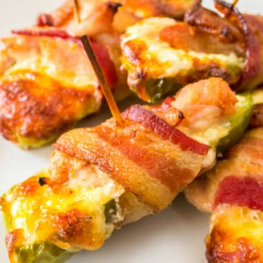 "Bacon, jalapeno, chicken, and cheese? These ""poppable"" appetizers are simply the BEST. My mouth is watering just thinking about them!"