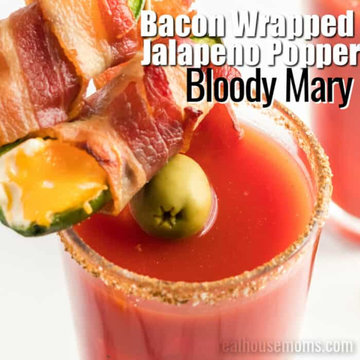 square image of bacon wrapped jalapeno popper bloody marys