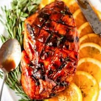 Baked Ham With Brown Sugar Glaze is deliciously sweet and savory! This recipe is so easy to make it's sure to become a family classic at your house!