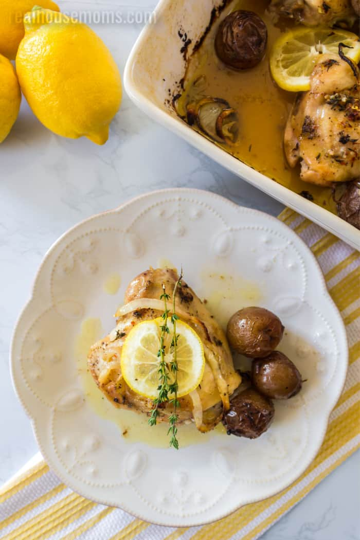 one-pan lemon chicken with potatoes