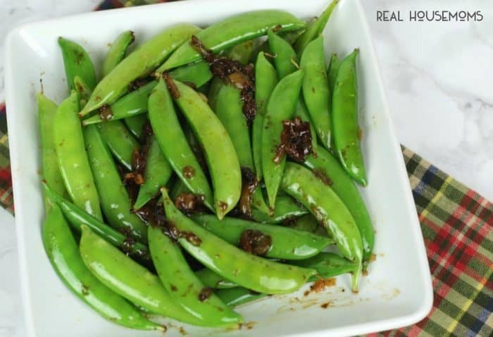 These easy BALSAMIC SNAP PEAS are a flavorful side dish that's ready in minutes!
