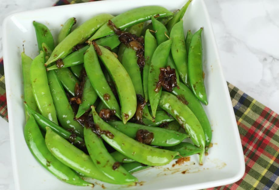 Balsamic Snap Peas - Real Housemoms