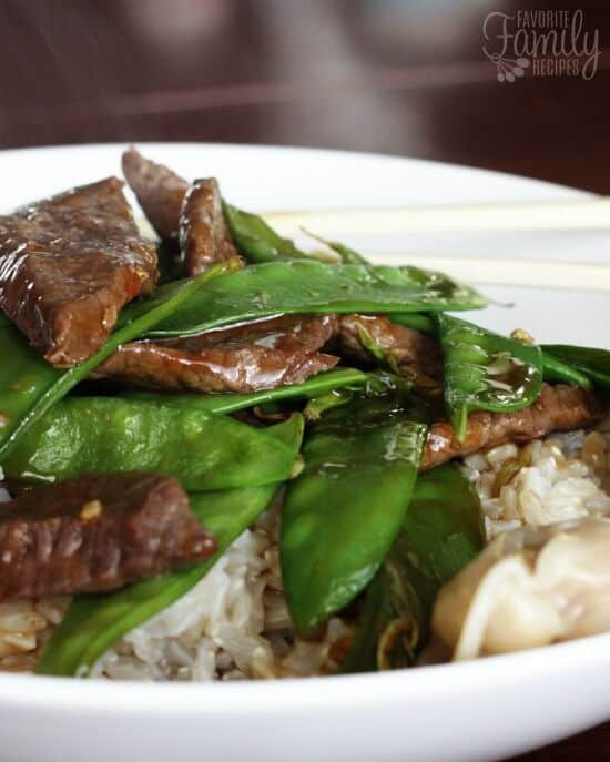 Beef and Snow Peas - Favorite Family Recipes