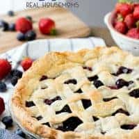 Everyone loves a summer Berry Pie! The berries are fresh and it's a simple way to enjoy the summer flavors!