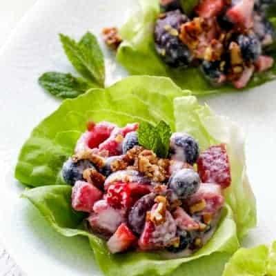 Berry Salad Fruit Lettuce Wraps