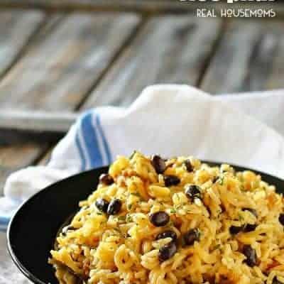Black Bean Rice Pilaf