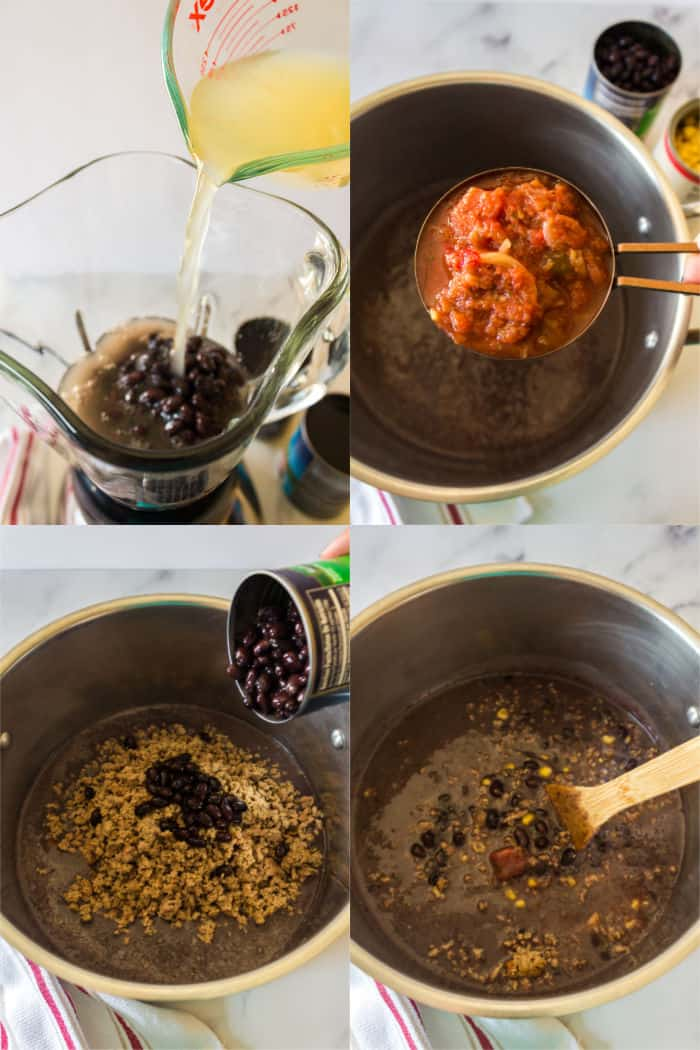 how to make black bean soup