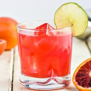 Take your normal margarita up 17 notches with this Blood Orange Margarita!  It is as pretty as it is totally boozy and delicious!