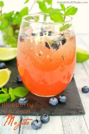 Blueberry Coconut Mojito by Delightful E Made