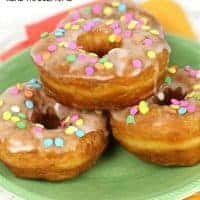 These easy BOURBON CARAMEL DONUTS are a sweet treat that everyone will love!
