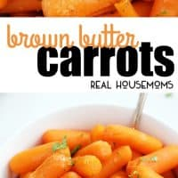 Tender baby carrots tossed in a rich brown butter & garlic herb sauce make for a simple, quick, and delicious side dish. These Brown Butter Carrots go with almost all your favorite meals!