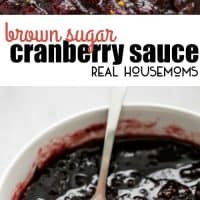 Easy Brown Sugar Cranberry Sauce has the perfect blend of sweet and tangy flavors!