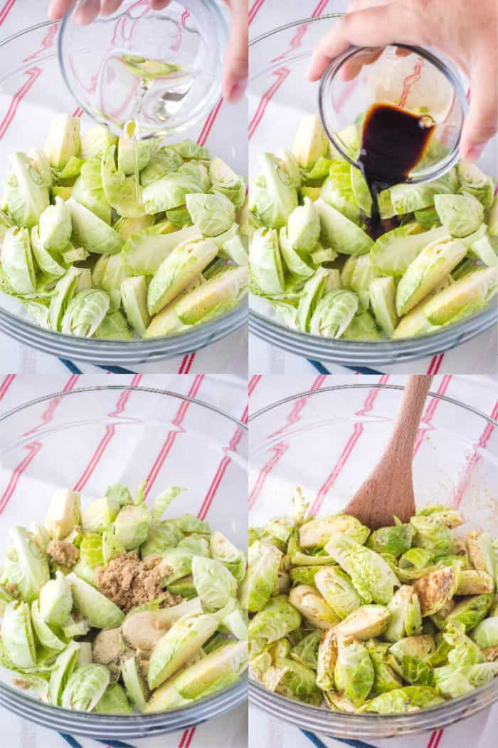 steps to season brussels sprouts for roasting