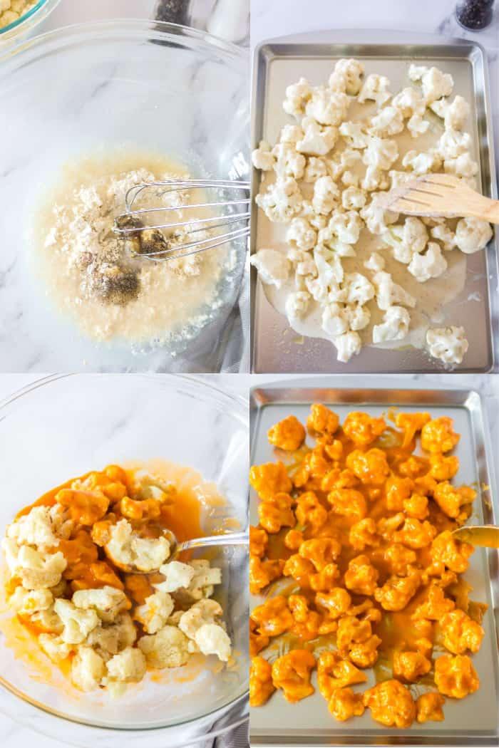 steps to make buffalo cauliflower