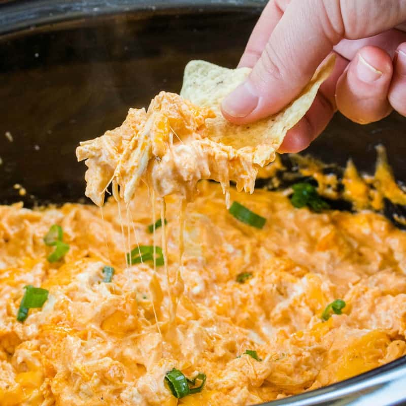 Buffalo Chicken Dip In A Crock Pot Real Housemoms