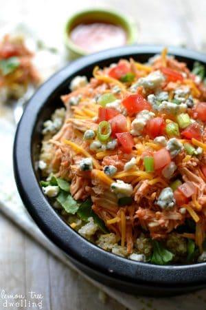 Buffalo Chicken Quinoa Bowl