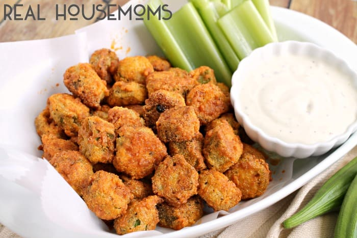 A classic southern dish gets a spicy makeover perfect for game day in these BUFFALO FRIED OKRA!